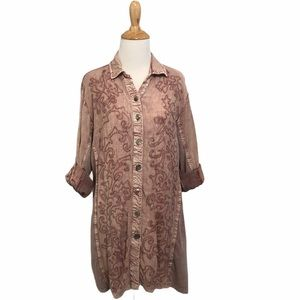 Parsley & Sage Button Down Embroidered Tunic